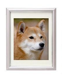 犬のパステルカラー遺影額