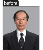 遺影写真加工の加工前のイメージ