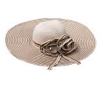 切抜きをした麦わら帽子の画像